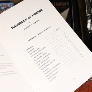 Handbook of Horror by Charles W. Cameron – Book