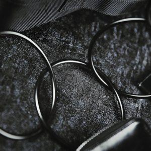 4″ Linking Rings (Black) by TCC – Trick