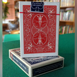 Experts Thin Crushed Printed on Web Press Rider Back Back (Red) Playing Cards