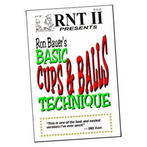 Basic Cups & Balls Technique book – Ron Bauer