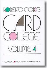 Card College Volume 4 by Roberto Giobbi – Book