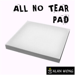 No Tear Pad (Small, 3.5 X 3.5, All No Tear) by Alan Wong – Trick