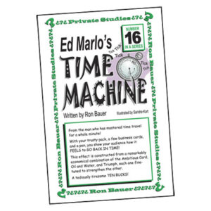 Ron Bauer Series: #16 – Ed Marlo's Time Machine – Book