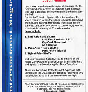 Three False Shuffles by  Justin Higham – DVD