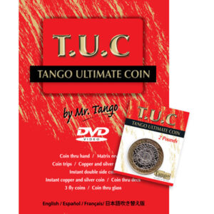 Tango Ultimate Coin (T.U.C.)(P0001)2 Pounds with instructional DVD by Tango – Trick
