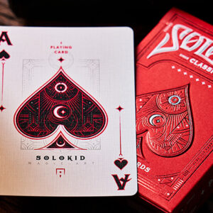 Solokid Ruby Playing Cards by SOLOKID Playing Cards