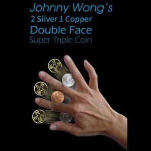 2 Silver 1 Copper Double Face Super Triple Coin (with DVD) by Johnny Wong  – Trick