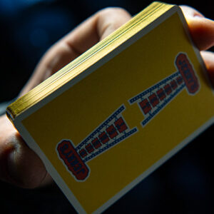 Gilded Vintage Feel Jerry's Nuggets (Yellow) Playing Cards