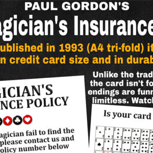 The Magician's Insurance Policy by Paul Gordon – Trick
