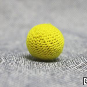 Crochet Ball .75 inch Single (Yellow) by Mr. Magic – Trick