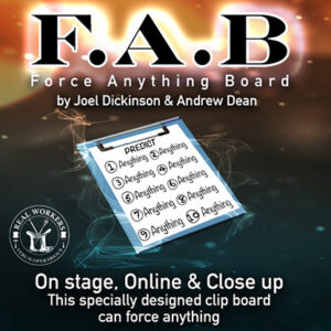 FAB BOARD A5/RED (Gimmicks and Online Instruction) by Joel Dickinson & Andrew Dean – Trick