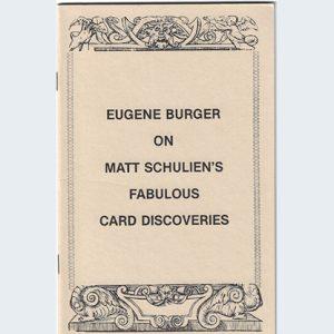 Eugene Burger on Matt Schulien's Fabulous Card Discoveries   – Book
